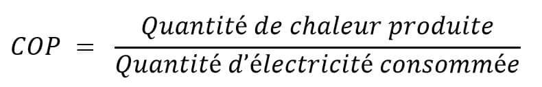 calcul coefficient de perforamnce CET