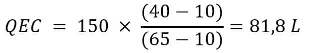 calcul volume eau chaude prélevé